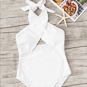Lulus white one piece swimsuit